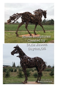Horse Sculptures by Dixie Jewett of Dayton ,OR