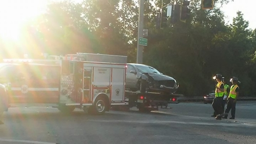 car accident, EMS on the scene