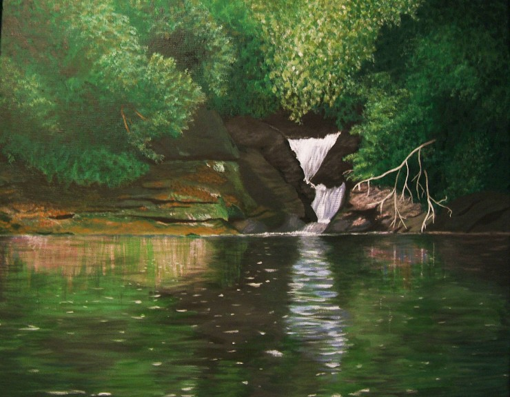 painting of Narrows Falls